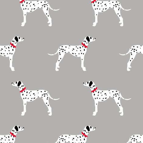 Dalmatians on grey fabric by littlearrowdesign on Spoonflower - custom fabric