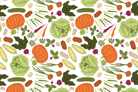 Farmer's Market Finds fabric by willowbirdstudio on Spoonflower - custom fabric