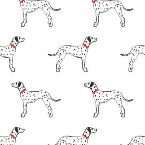 Dalmatians - dog fabric
