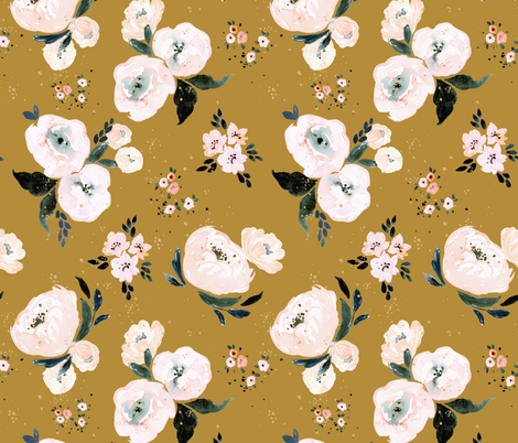 Janice_Floral_vintage fabric by crystal_walen on Spoonflower - custom fabric
