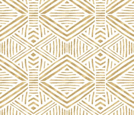 Tribal_Geometric_Gold fabric by crystal_walen on Spoonflower - custom fabric