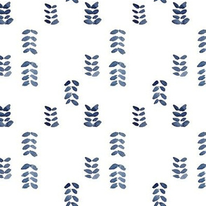 Leaf Strokes In Indigo