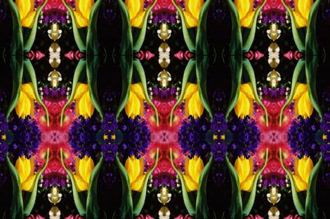 YELLOW_TULIP--Mirrored fabric by karenspix on Spoonflower - custom fabric