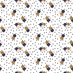 Navy Gold Blush Dotty dots