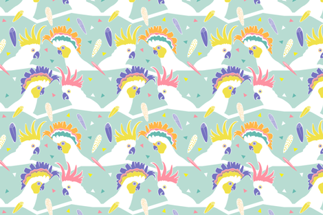 Cockatoo party by Mount Vic and Me fabric by mountvicandme on Spoonflower - custom fabric