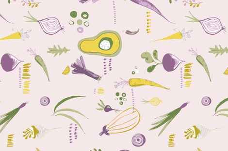 Emily_Ainsworth-Vegetable_feast fabric by emily_ainsworth_print on Spoonflower - custom fabric