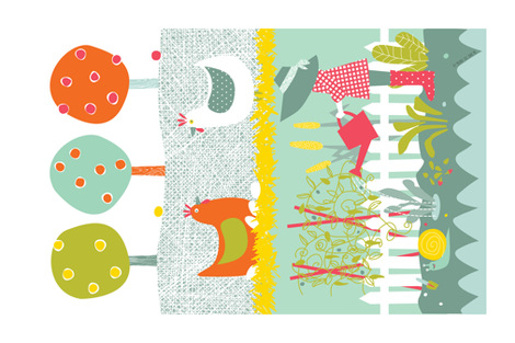 My Veggie Patch by Mount Vic and Me fabric by mountvicandme on Spoonflower - custom fabric