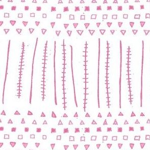 Mudcloth Geometric Stripes Orchid Pink