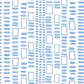 Mudcloth Fletching Squares Midtone Blue