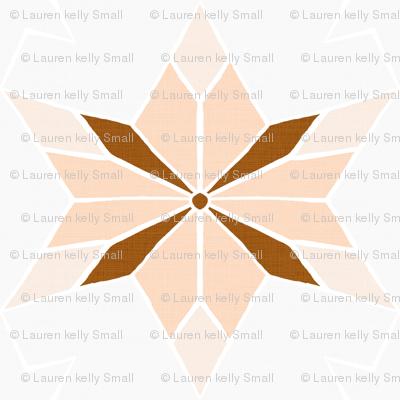 Rustic Star Peach Rust