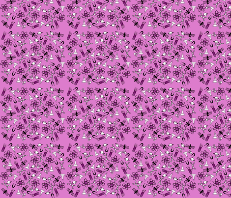 Science Girl - Pink fabric by jenthegeek on Spoonflower - custom fabric