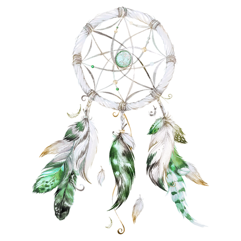 "8"" Green Dreamcatcher fabric by shopcabin on Spoonflower - custom fabric"