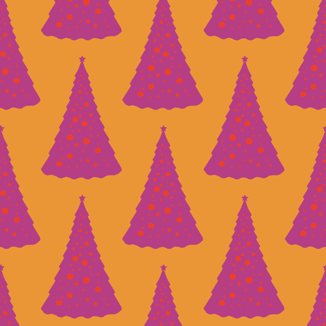 Christmas Tree in a Hot Climate 1 fabric by anniedeb on Spoonflower - custom fabric