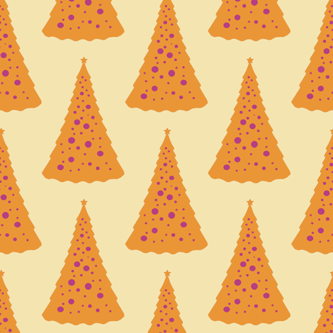 Christmas Tree in a Hot Climate 4 fabric by anniedeb on Spoonflower - custom fabric