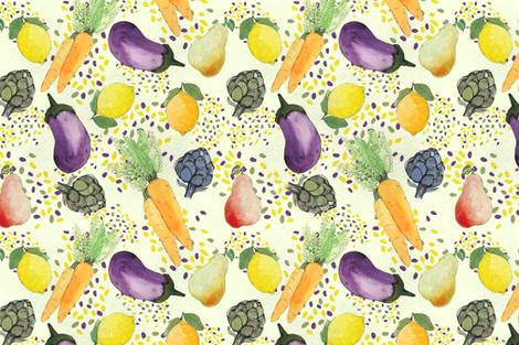 My_Fav_Veggies fabric by yasminah_combary on Spoonflower - custom fabric