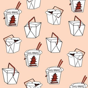 takeout rice fabric // food new york-style chinese food design rice cuisine fast foods - blush