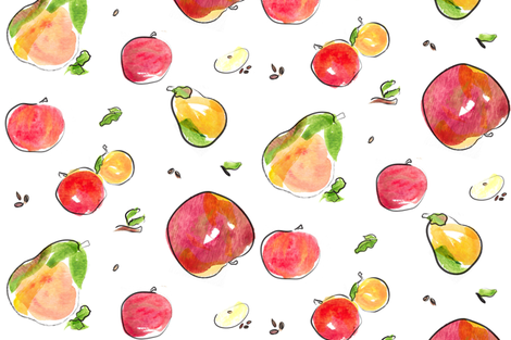 apple_pattern fabric by studio_hansen on Spoonflower - custom fabric