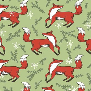 Holly Jolly Christmas - Evergreen Fox