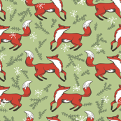 Holly Jolly Christmas - Evergreen Fox