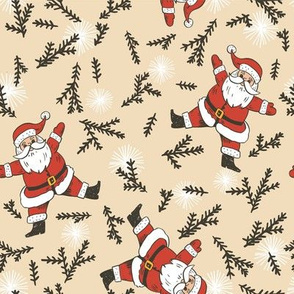 Holly Jolly Christmas - Scattered Santa