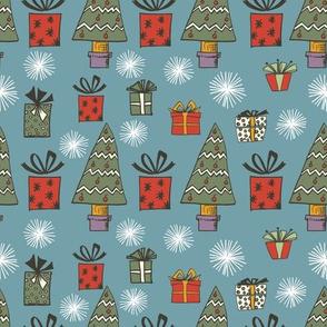 Holly Jolly Christmas - Presents & Trees