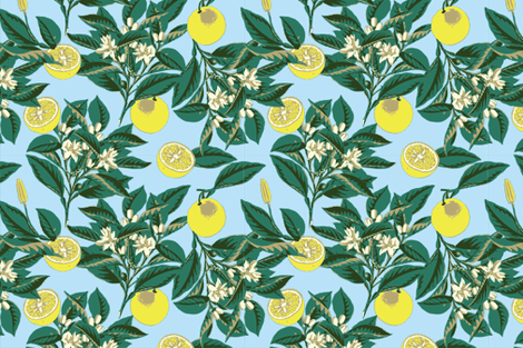 sf-lemons fabric by melcozzens on Spoonflower - custom fabric