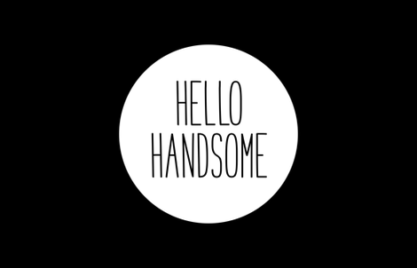 hello handsome 1yd horizontal fabric by misstiina on Spoonflower - custom fabric