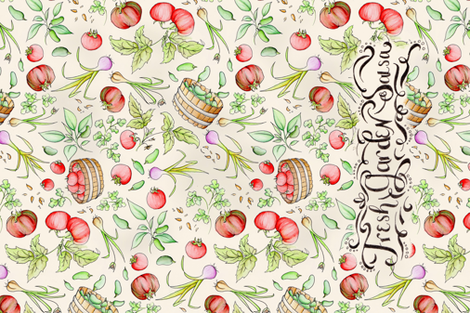 GardenSalsaTowel fabric by blairfully_made on Spoonflower - custom fabric