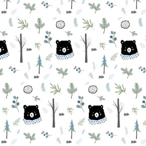 "8"" Hello Blue Winter Bear"