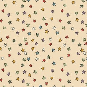Holly Jolly Christmas - Sprinkled stars, cream