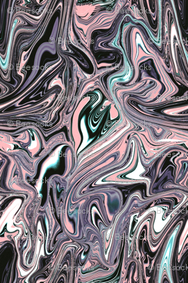 Pink black and aqua marbled swirl
