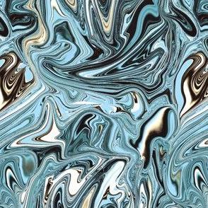 Frozen marbled swirl