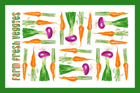 farm_fresh_veggies fabric by bestofdays on Spoonflower - custom fabric