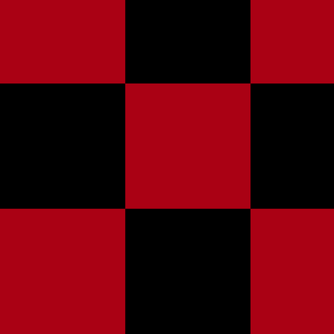Three Inch Dark Red and Black Checkerboard Squares fabric by mtothefifthpower on Spoonflower - custom fabric