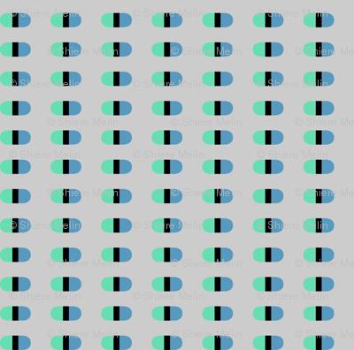 Capsules | Blue on light gray