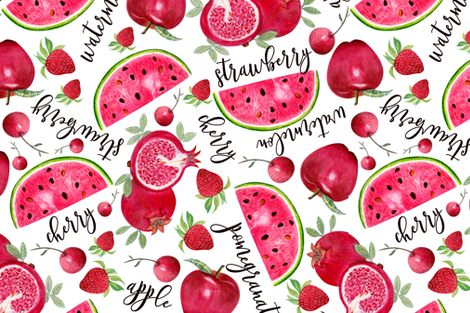 myRedFruits fabric by grace_andersson on Spoonflower - custom fabric