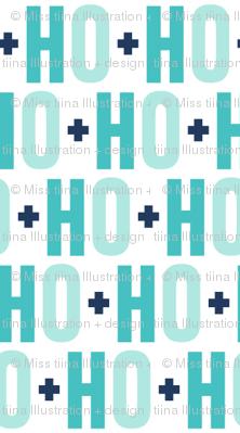 ho ho ho // navy + teal
