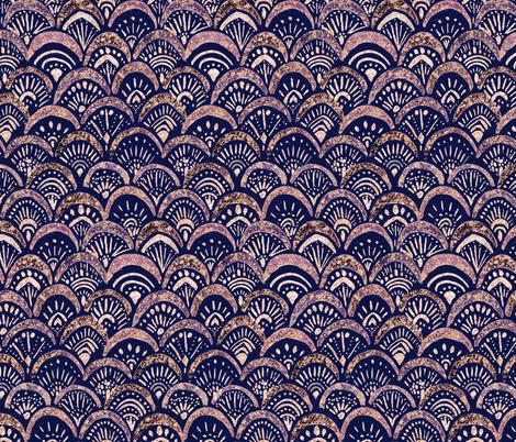 Mermaid_Sparkle_Autumn_Blush fabric by crystal_walen on Spoonflower - custom fabric