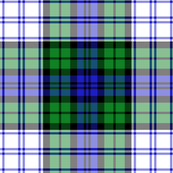 Black Watch symmetrical dress tartan, 6""