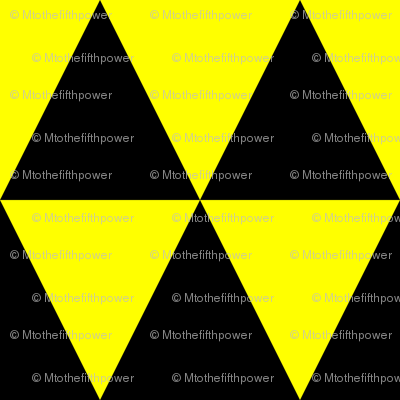 Three Inch Yellow and Black Triangles
