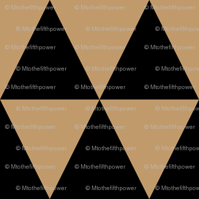 Three Inch Camel Brown and Black Triangles