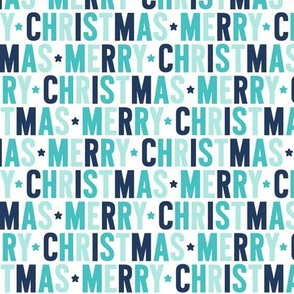 merry christmas // navy + teal