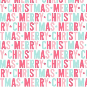 merry christmas // pink + teal