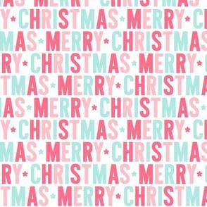merry christmas // pink + teal