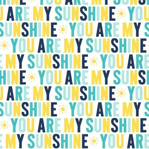 you are my sunshine // navy + teal + yellow