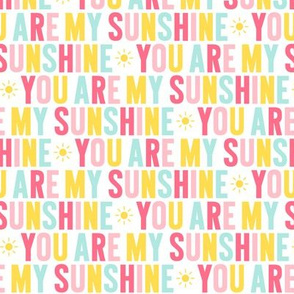 you are my sunshine // pink + teal + yellow