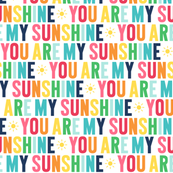 you are my sunshine // rainbow with navy