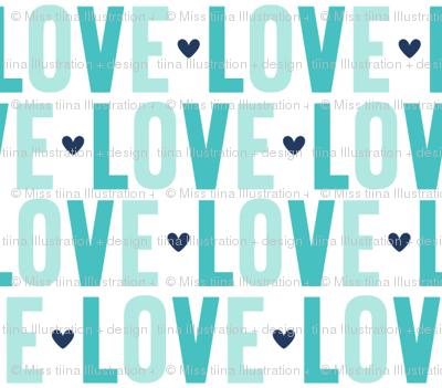 love // navy + teal