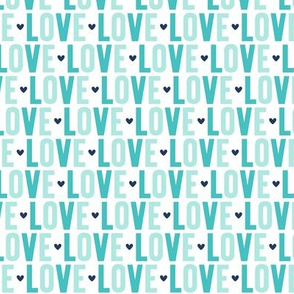 love // navy + teal