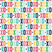 xoxo rainbow with navy UPPERcase